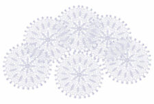 White Floral Lace Round Doily Traditional Vintage Home Table Coaster Mat 18.5cm