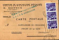 """BRIVE (19) COMPTOIR de QUINCAILLERIE SPECIALISEE """"R. BOITEUX"""" en 1944"""