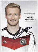 André SCHÜRRLE, Fussball-Weltmeister 2014, DFB-Karte WM 2014, Original-Autogramm