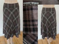 Gerry Weber Rock Kilt Wadenlang Schwingend Viskose BraunKariert 40 1A