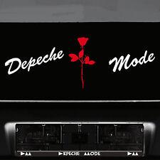 DEPECHE MODE Lettrage Blanc + Violator Rose Rouge Autocollant Tatouage Voiture Décoratifs