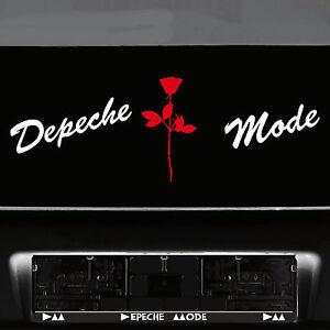 Depeche Mode Schriftzug weiß + Violator Rose rot Aufkleber Tattoo Auto Dekofolie