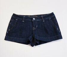 American Rag Cie Women's Juniors Jean Shorts Denim Stretch Dark Wash Blue Size 3