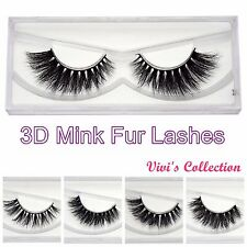 Vivi's Collection 3D Real Mink Strip Luxury False Eyelashes Premium Eye Lashes