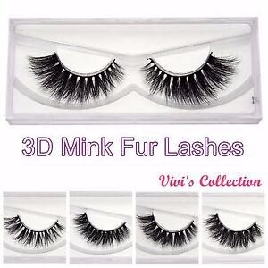 3D Mink Lashes Strip Eye False Eyelashes Natural Long Thick Premium UK