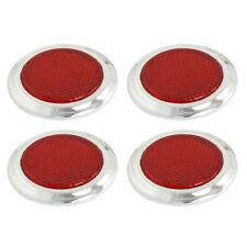 4 Pcs Auto Car Plastic Round Reflective Reflector Sticker Red V7S2