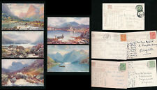 TUCKS OILETTE 7683 BONNIE SCOTLAND LOCH ETIVE 5 CARDS POSTALLY USED...WIMBUSH