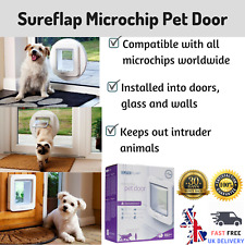 SureFlap Microchip Pet Door White Large Cats Small Dogs Secure Entry Flap
