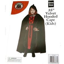 35 pollici lungo Bambini nero Dracula Cape Mantello Halloween Horror Costume