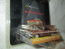 Ertl American Muscle Plymouth Fury 1958 Marron car 1:64 Moulage sous Pression