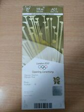 London 2012 Olympic Games OPENING CEREMONY 27 July ORIGINAL USED ticket