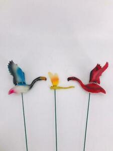 3PC's Garden Birds on Spike Wire Wall Art Metal Garden Home Fence Decoration New