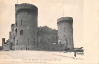 ARMORY-8th REGIMENT-NY NATIONAL GUARD-NEW YORK CITY-POSTCARD 1900s
