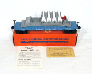 Postwar Lionel 6544 Missile Firing Car~Blue-Painted Version~w/Nice OB & Inst.