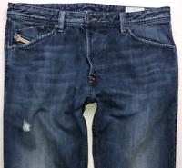 Mens DIESEL Darron Jeans W34 L30 Blue Regular Slim Tapered Wash 0RBS4