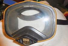 Vintage Coral 65 Tempered Glass Dive Mask Japan,scuba dining equipment