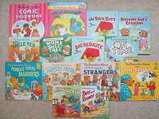 BERENSTAIN BEARS LOT 14~Living Lights HC~On Time~Help Around House~Valentine Com