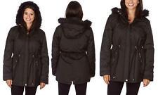 Yoki Women'S Parka Warm Winter Coat With Faux Fur Lined Hood  M Black
