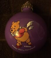 Vintage Disney Pooh Christmas Tree Round Bulb Ball Ornament NOMA Open Box