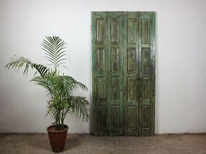 Pair of Antique Vintage Worn Painted Screen Bi-Fold Doors MILL-942/4 C9