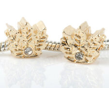 2pcs Charms Beads Fit sterling 925 Necklace European charm Bracelet Chain #B267
