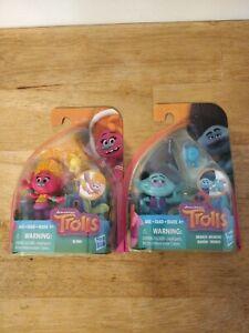"""DreamWorks Trolls - Collectible 4"""" Figure w/ Branch- DJ Suki . 2 Pkgs."""