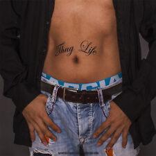 """5 x Schriftzug """"Thug Life"""" als Tattoo - Gangster Leben - Gangster Tattoo"""