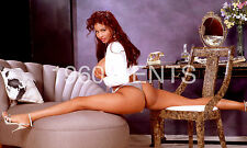 "1980s NUDE 8X10 PHOTO BUSTY BIG NIPPLES EBONY PINUP ""CONI""  FROM ORIGINAL NEG-5"