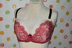 SEXY VICTORIA'S SECRET Red lace look  Bra 34DDD EUC