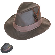 British Waxed Cotton Trilby Leatherette Band Water ResistantZH150