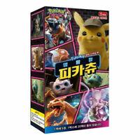"Pokemon Card ""Detective Pikachu"" SMP2 Movie Special Booster Box 20 Packs Korean"