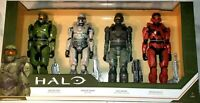 """NEW! HALO Set 4 Figures 12"""" MASTER CHIEF SPARTAN TANAKA UNSC  MK VII WEAPONS"""