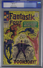 Fantastic Four  #59 Marvel 1967 CGC 9.4 (NEAR MINT ) Old Label Silver Surfer app
