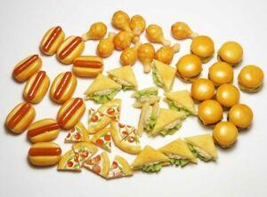 50-Piece Dollhouse Miniature Mixed Food Set * Doll Mini Tiny Food Bakery