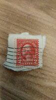Vintage George Washington Red 2 Cent Stamp Rare