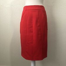 Atmosphere Red Lined Pencil Skirt Darting Detail Size UK 10