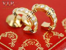 CARTIER CONTESSA OHRRINGE CREOLEN 18K/750er GOLD & DIAMANTEN / DIAMONDS EARRINGS