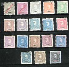 PORTUGESE TIMOR 1898-1900 (USED & MINT-HINGED)