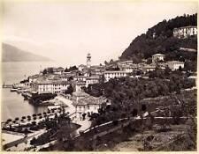 Lake Como Bellagio & Lake Lugano Lot two original albumen photos 1870c XL113