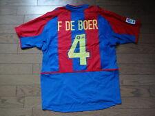 FC Barcelona #4 F De Boer 100% Original Jersey Shirt M 2002/03 Home Rare