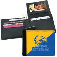 AFL Mens Wallet - West Coast Eagles - 12x10cm Fits 10 Card + Notes - Sublimated