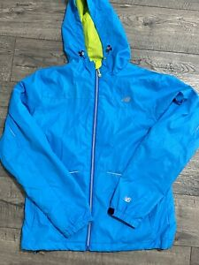 New Balance Womens Size M Medium Running Rain Jacket Windbreaker RN 130893 Blue