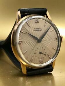 VINTAGE GIRARD PERREGAUX TEXTURED DIAL HAND WINDING GOLD FILLED 1950 WristWatch
