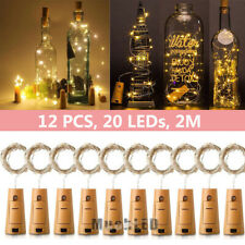 12Pcs 2M 20 LED Cork Shaped LED Night Starry Light Wine Bottle Lamp Party Decor