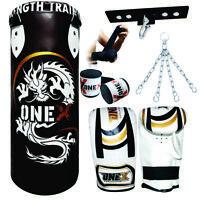 3ft Punch Bag Set Ceiling Hook Kids//Adult Fitness Set Boxing Bag Mitts+Chain