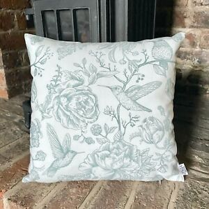 896. DuckEgg Blue Hummingbird 100% Cotton Cushion Cover Various sizes