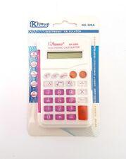 Mini Calcolatrice Elettronica Digitale KK-328A 8 Cifre Scuola Ufficio Rosa moc