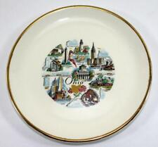 Vintage Ohio Travel Souvenir Plate