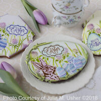Confection Couture Egg Hunt Dynamic Duos Message & Frame Cookie Stencil Set