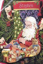 Dimensions Santas Toy Shop Paint Bears Christmas Needlepoint Stocking Kit 9123